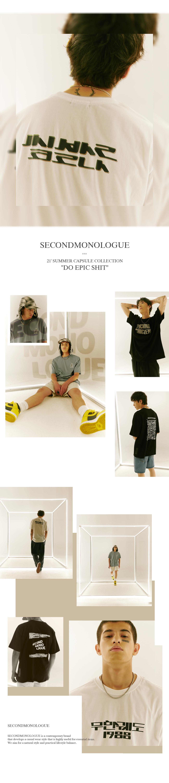 세컨모놀로그(SECOND MONOLOGUE) 우터 반팔 티셔츠 화이트 COOSTS201WHITE